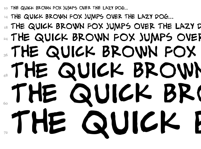 Alex Toth font waterfall