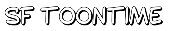 SF Toontime font preview