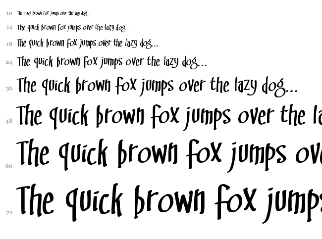 Swingset BB font waterfall
