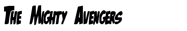 Шрифт The Mighty Avengers