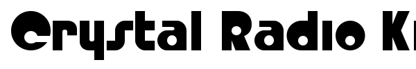 Crystal Radio Kit font preview