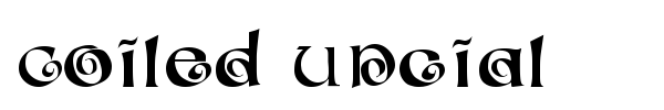 Шрифт Coiled Uncial