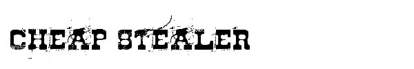 Cheap Stealer font preview