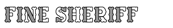 Fine Sheriff font preview