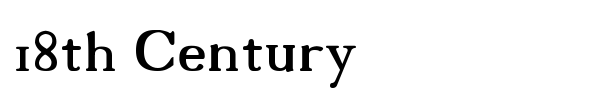 18th Century font preview