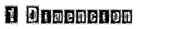 1 Dimencion font preview