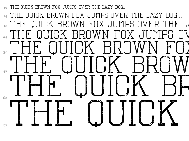 The Nest font waterfall