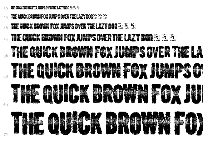 Verbal Diarrhea font waterfall
