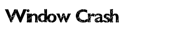 Шрифт Window Crash