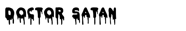 Doctor Satan font preview