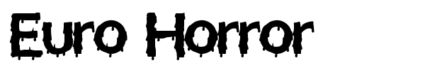 Euro Horror font preview