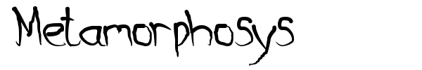 Metamorphosys font preview