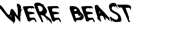 Were Beast font preview