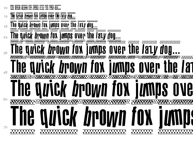 1980 Portable font waterfall