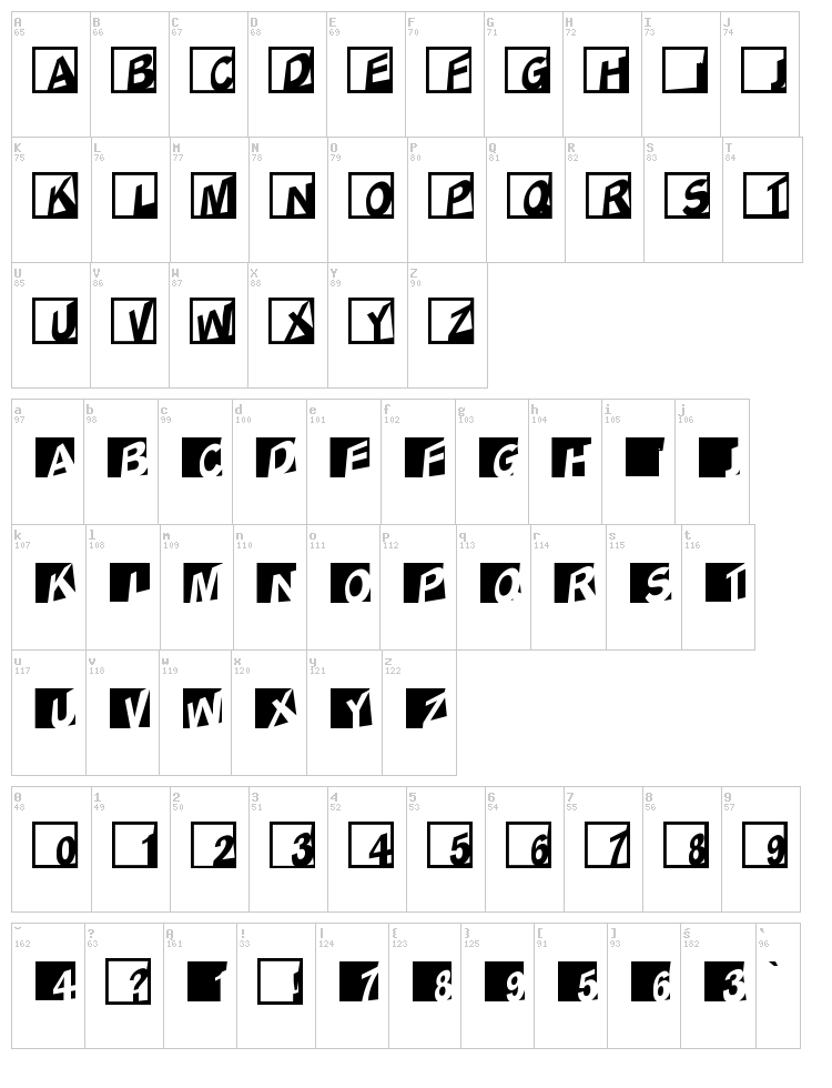 ABC Logos XYZ font map