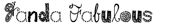 Janda Fabulous font preview
