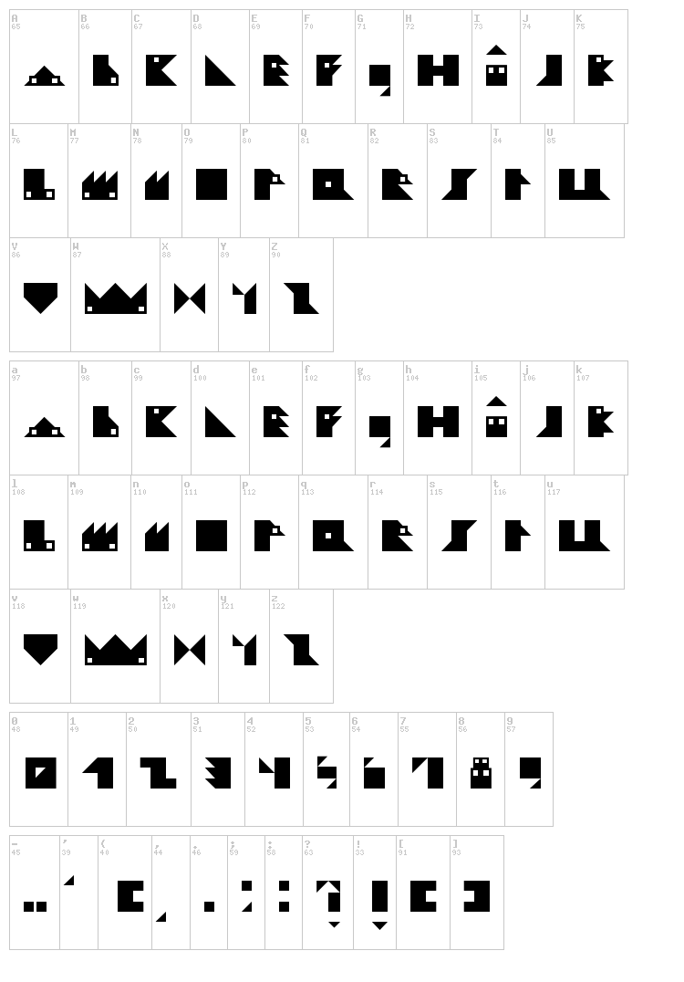 Ludiko Village font map