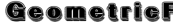 GeometricFog font preview