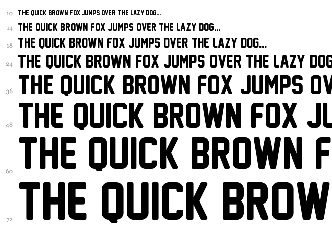 New Athletic M54 font waterfall