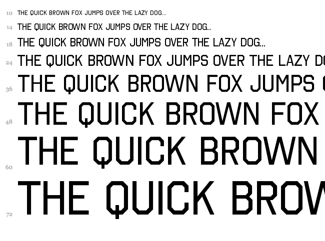 Octin College Free font waterfall
