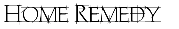 Home Remedy font preview