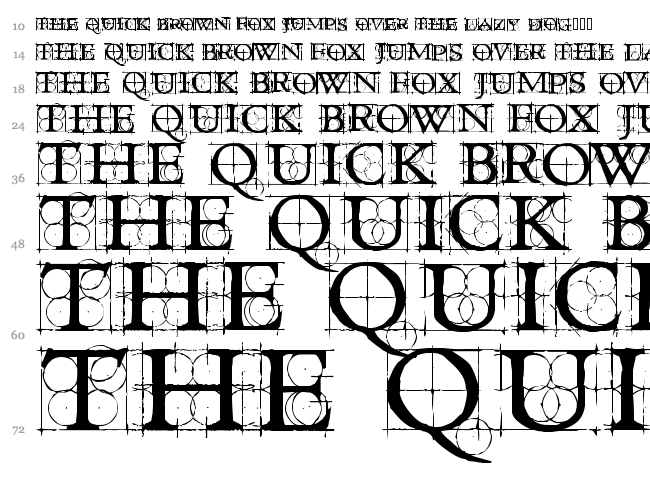 Roughwork font waterfall
