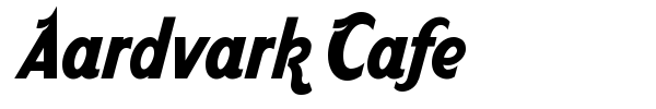 Aardvark Cafe font preview