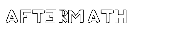 Aftermath font preview