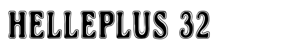 Helleplus 32 font preview