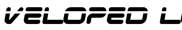 Шрифт Veloped Logotype