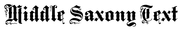 Шрифт Middle Saxony Text