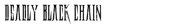 Шрифт Deadly Black Chain