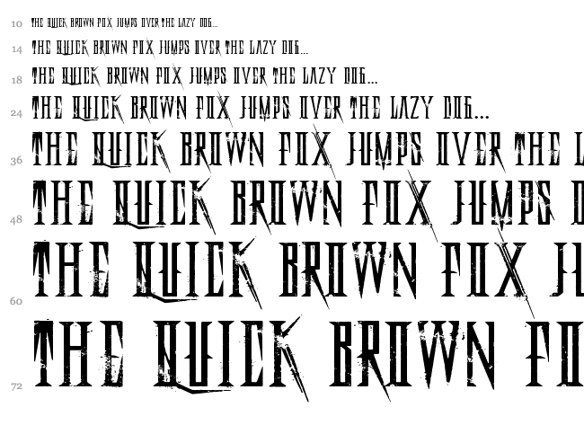 Deadly Black Chain font waterfall