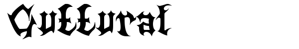 Шрифт Guttural