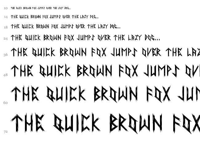 Ancient Runes font waterfall