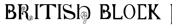 Шрифт British Block Flourish, 10th c.