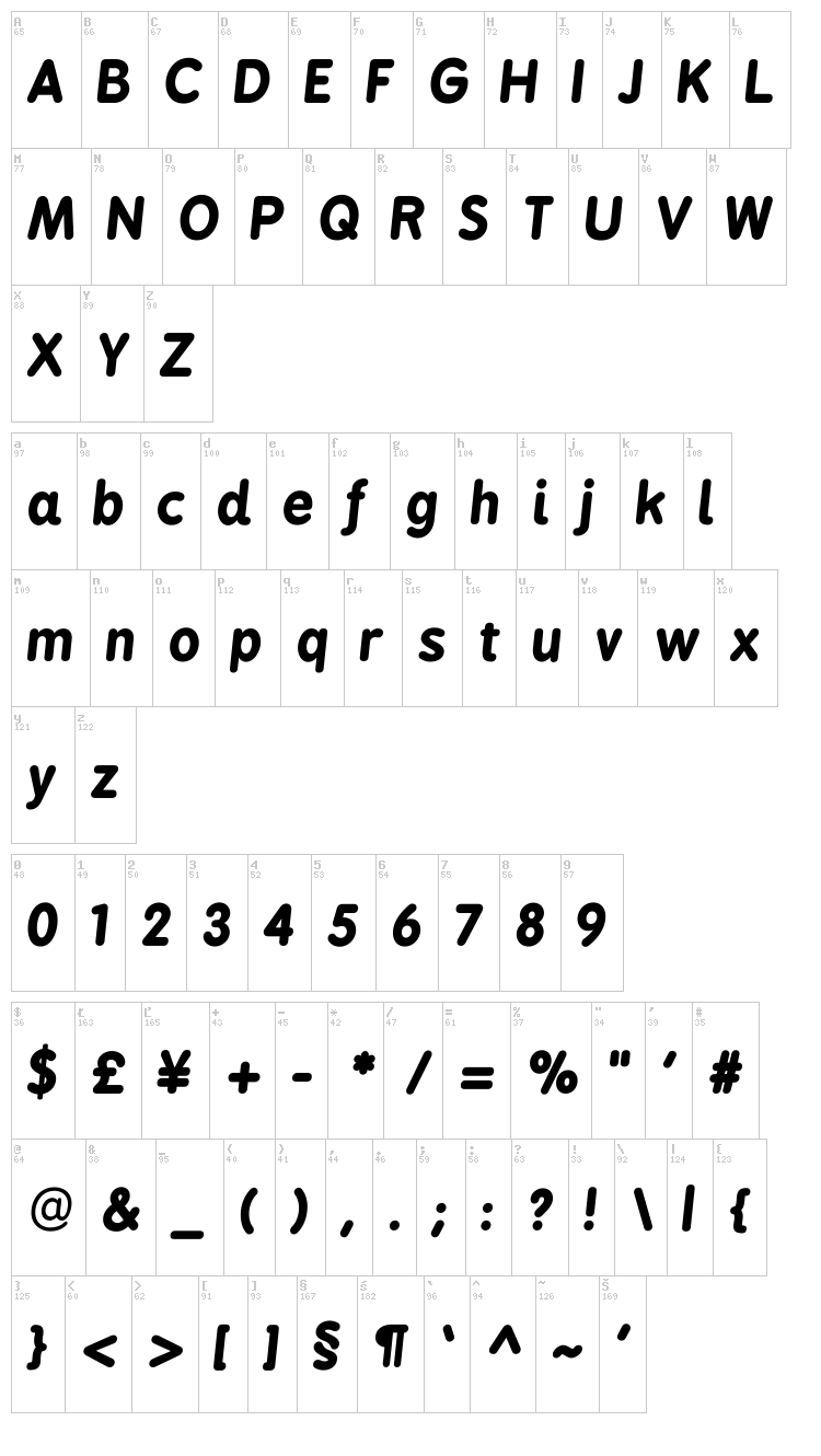 BPreplay font map