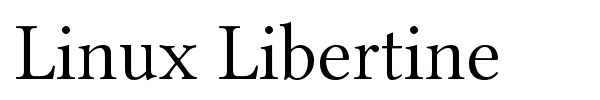 Linux Libertine font preview