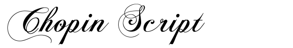 Chopin Script font preview
