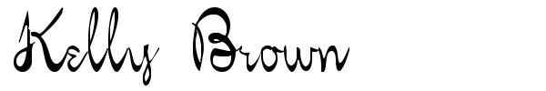 Шрифт Kelly Brown