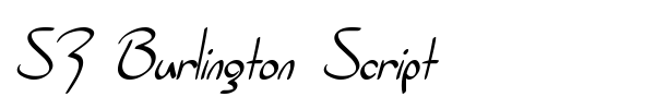 Шрифт SF Burlington Script