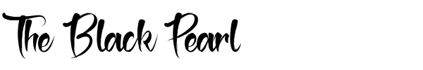 The Black Pearl font preview