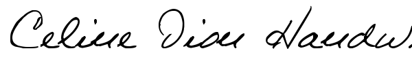 Шрифт Celine Dion Handwriting
