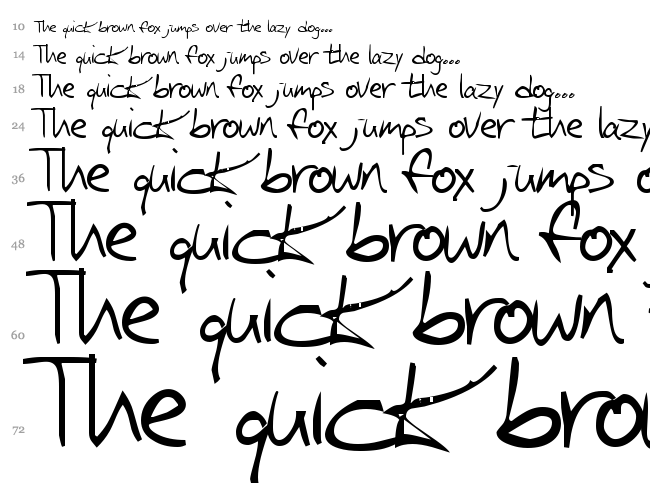 Iglook font waterfall