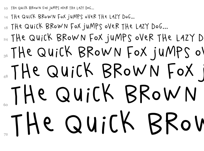 K26 Scribble Scrawl font waterfall