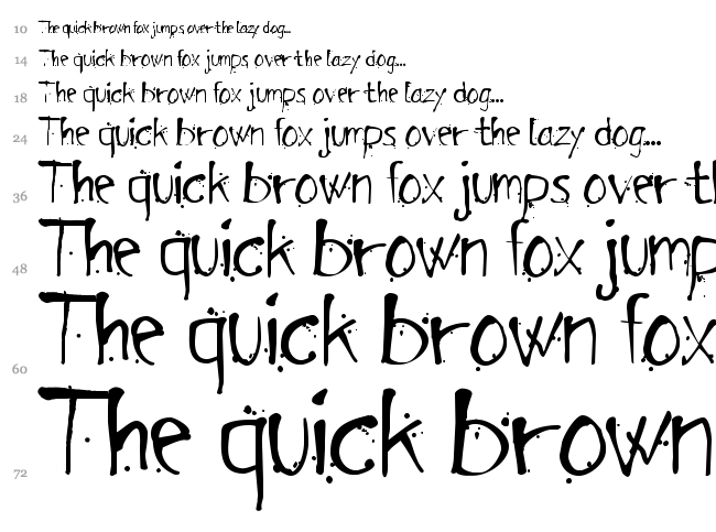 Arensdorff Ink font waterfall