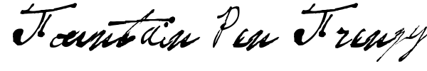 Fountain Pen Frenzy font preview