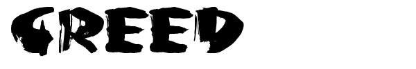 Greed font preview