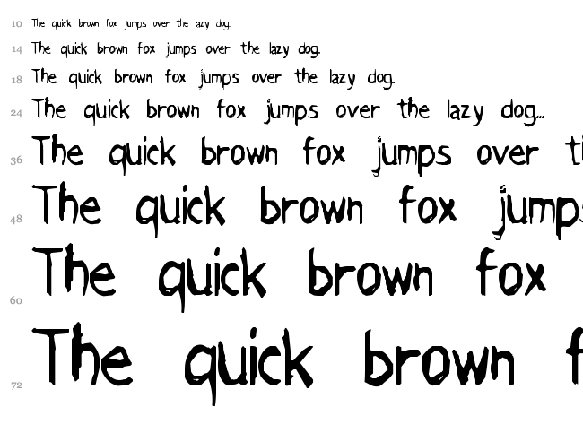Grimace font waterfall