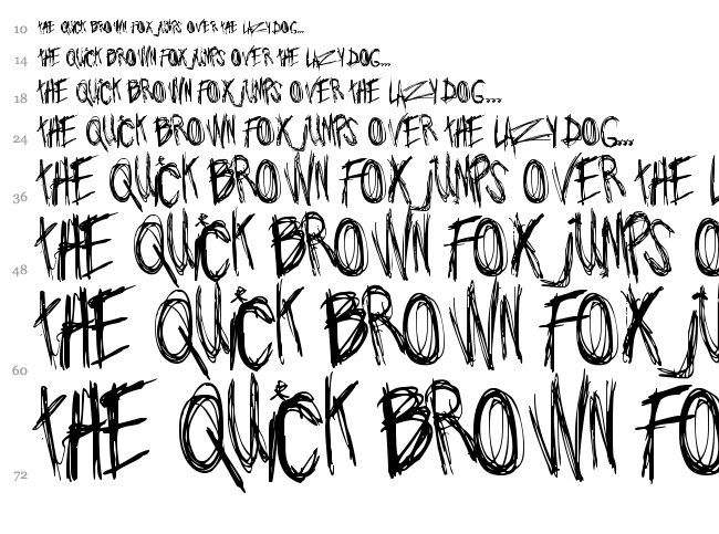 Jo wrote a lovesong font waterfall